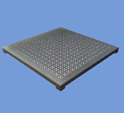 Perforated cast aluminum floor tiles panels access manufacturer